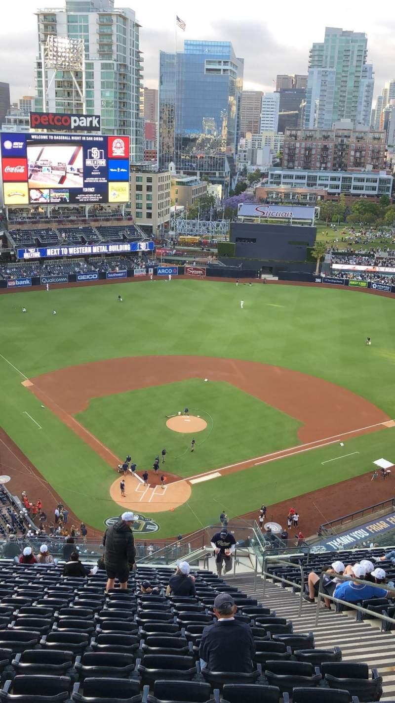 Seating view for PETCO Park Section 300 Row 27 Seat 4