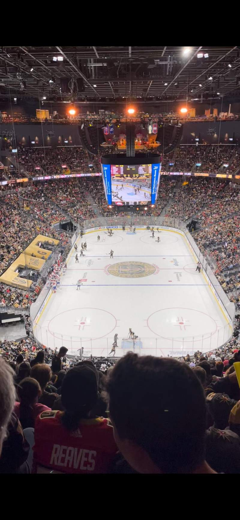 Seating view for T-Mobile Arena Section 214 Row N Seat 10