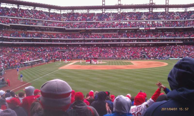 Seating view for Citizens Bank Park Section 105 Row 14 Seat 12