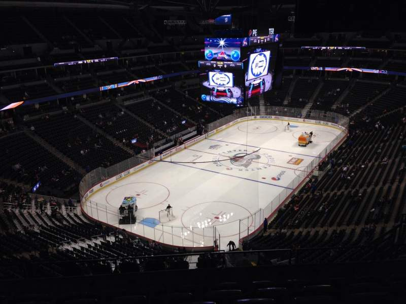 Seating view for Pepsi Center Section 358 Row 10 Seat 1