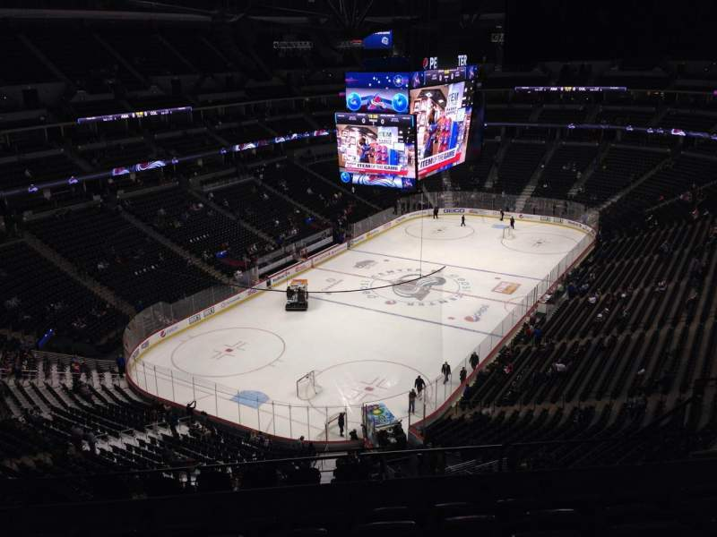 Seating view for Pepsi Center Section 358 Row 11 Seat 9