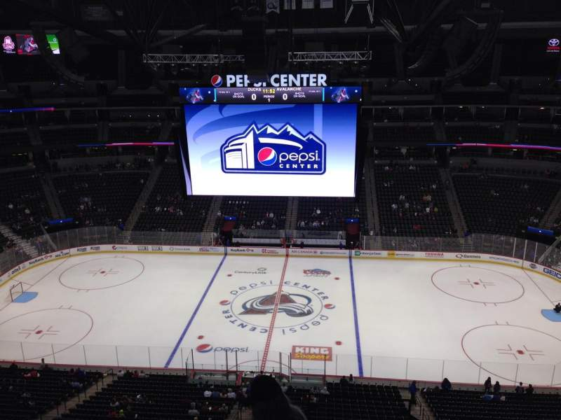 Seating view for Pepsi Center Section 342 Row 10 Seat 1