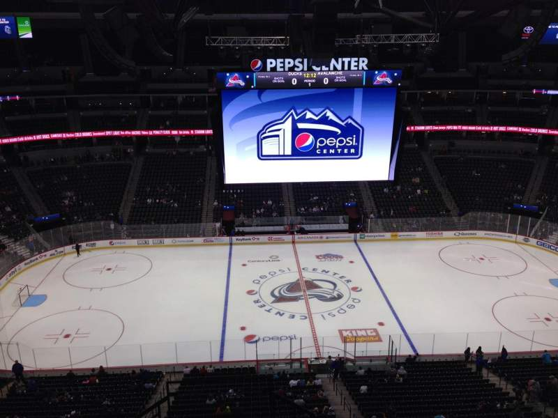 Seating view for Pepsi Center Section 344 Row 10 Seat 1
