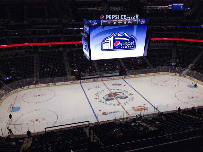 Seating view for Pepsi Center Section 346 Row 10 Seat 1
