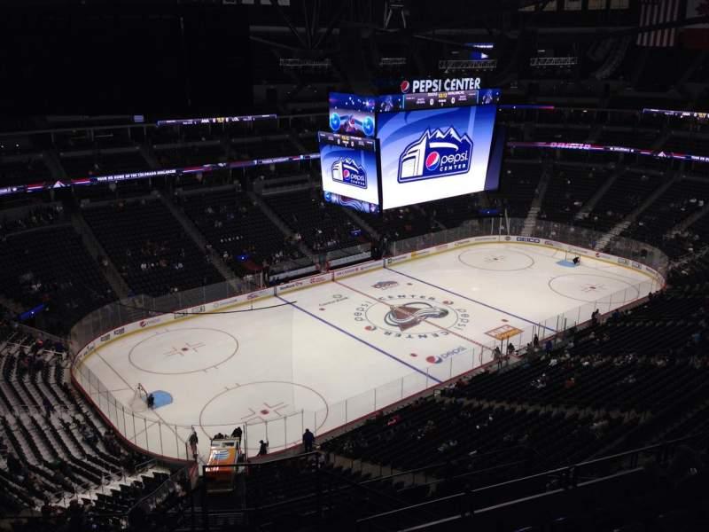 Pepsi Center, section: 350, row: 10, seat: 1