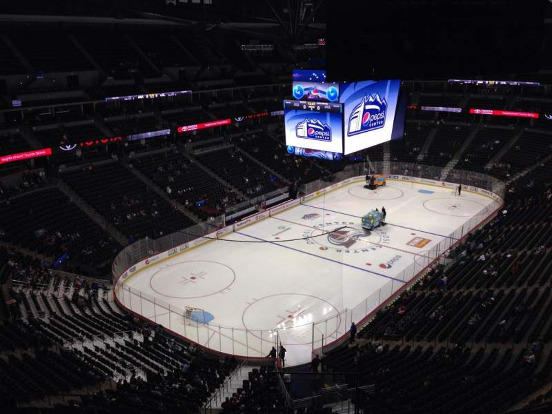 Seating view for Pepsi Center Section 352 Row 10 Seat 11