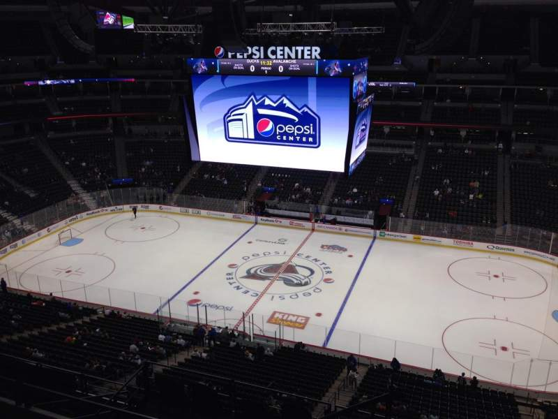 Seating view for Pepsi Center Section 340 Row 10 Seat 1