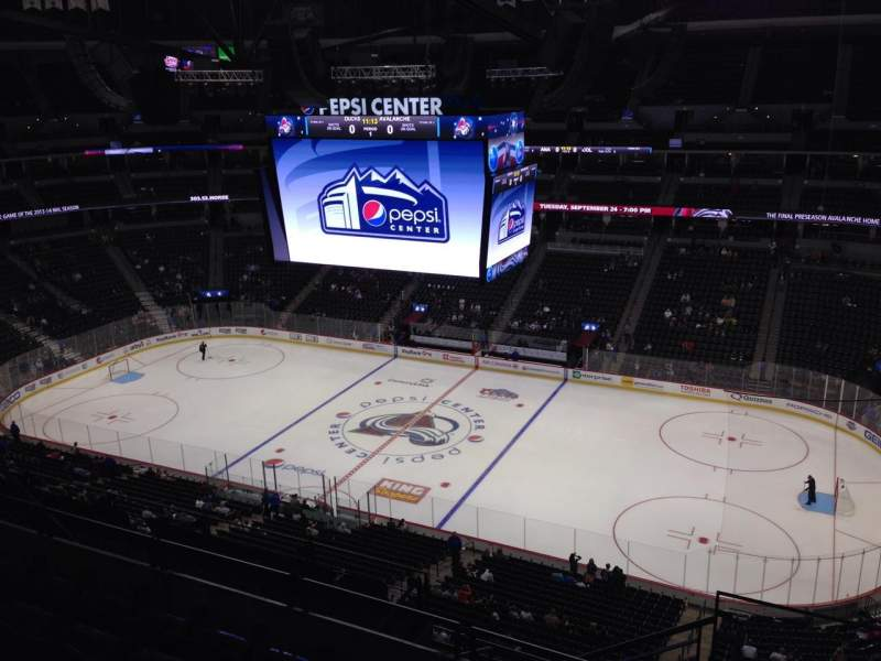 Seating view for Pepsi Center Section 338 Row 10 Seat 1
