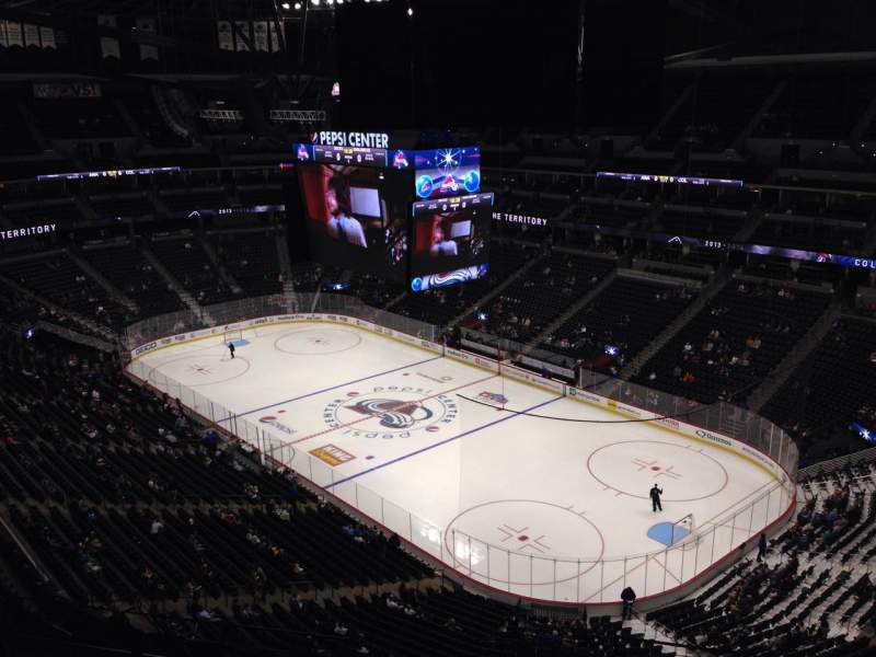 Seating view for Pepsi Center Section 332 Row 10 Seat 1