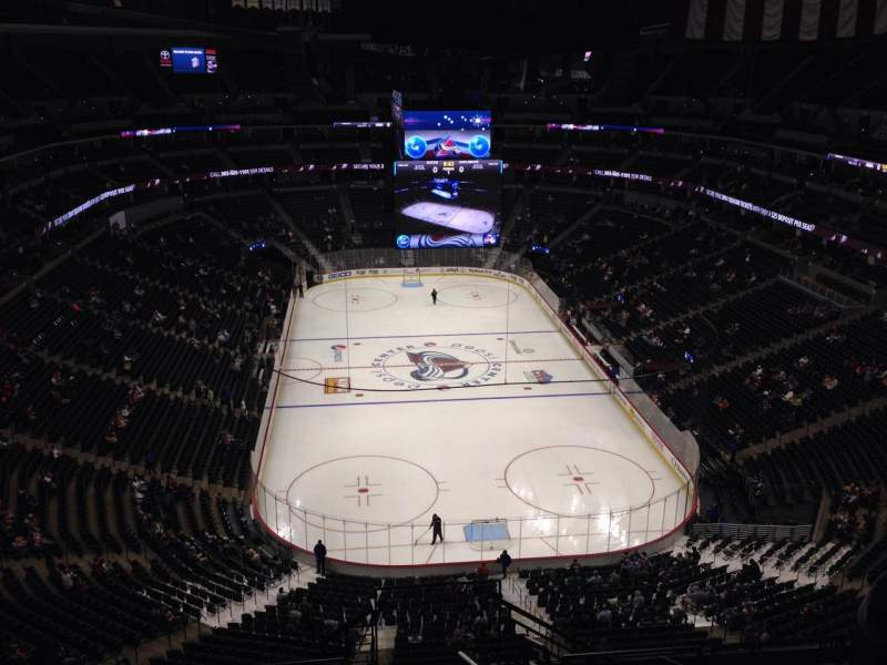 Seating view for Pepsi Center Section 324 Row 10 Seat 1