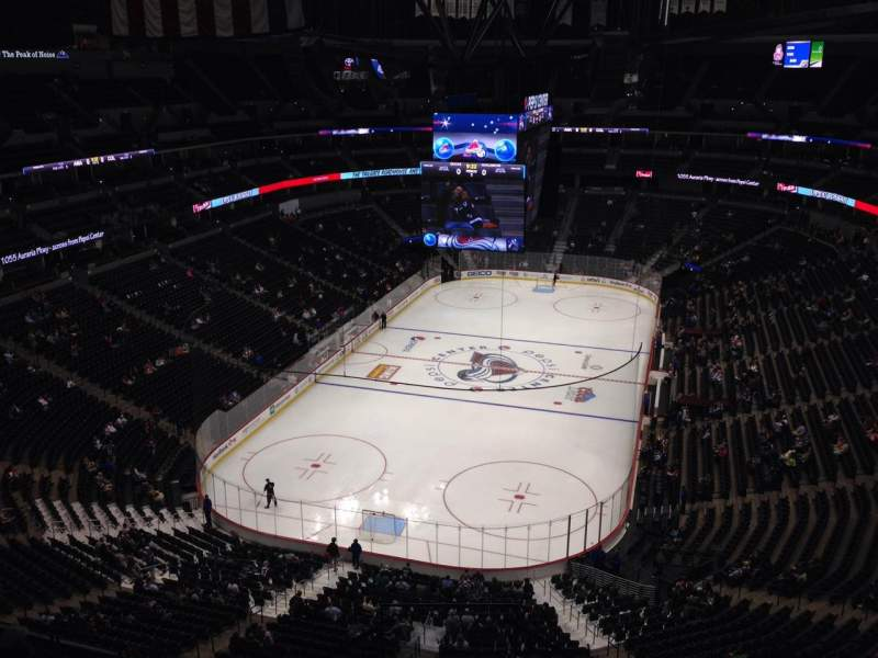Seating view for Pepsi Center Section 320 Row 10 Seat 1