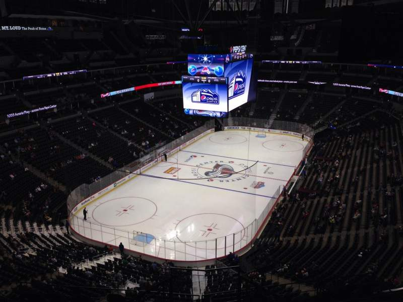 Seating view for Pepsi Center Section 318 Row 10 Seat 1