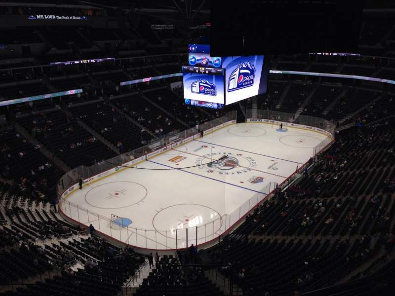 Seating view for Pepsi Center Section 316 Row 10 Seat 1