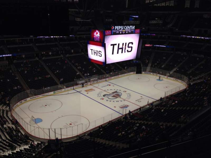 Seating view for Pepsi Center Section 312 Row 10 Seat 1