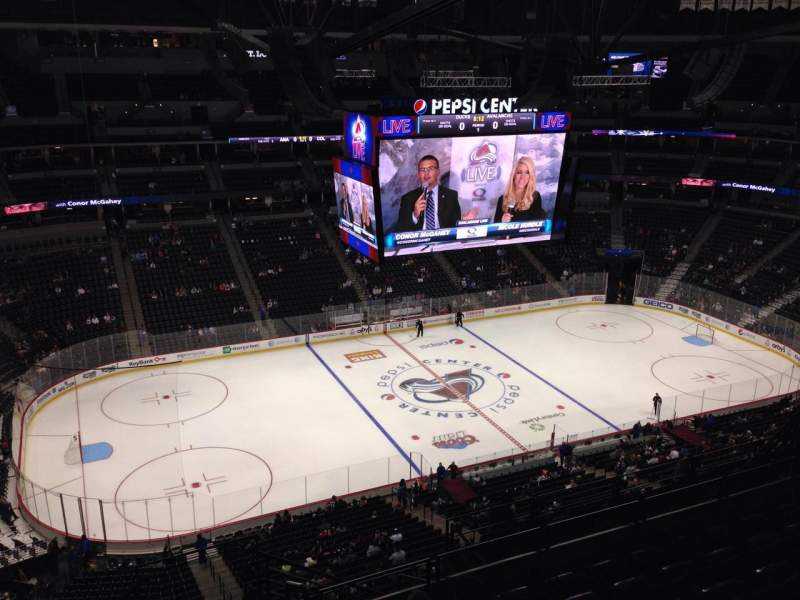 Seating view for Pepsi Center Section 308 Row 10 Seat 1