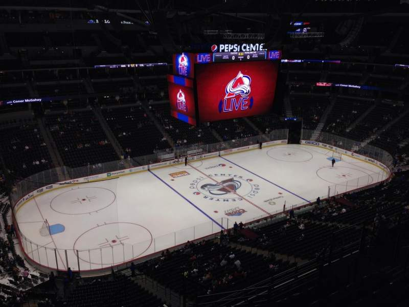 Seating view for Pepsi Center Section 310 Row 10 Seat 1