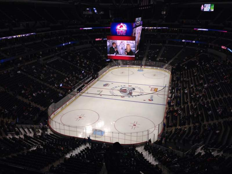 Seating view for Pepsi Center Section 360 Row 10 Seat 1