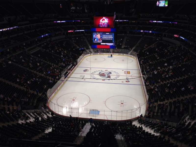 Seating view for Pepsi Center Section 362 Row 10 Seat 1