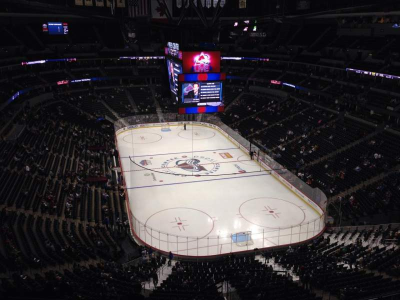 Seating view for Pepsi Center Section 366 Row 10 Seat 1