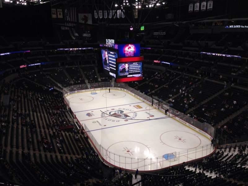 Pepsi Center, section: 368, row: 10, seat: 1