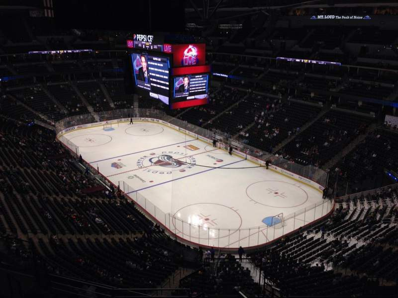 Seating view for Pepsi Center Section 370 Row 10 Seat 1