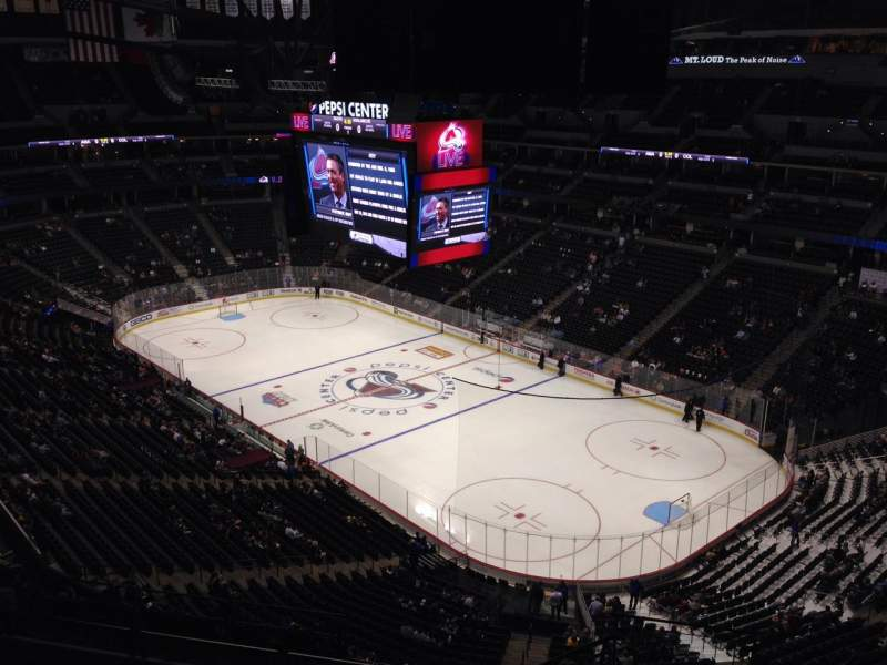 Seating view for Pepsi Center Section 372 Row 10 Seat 1