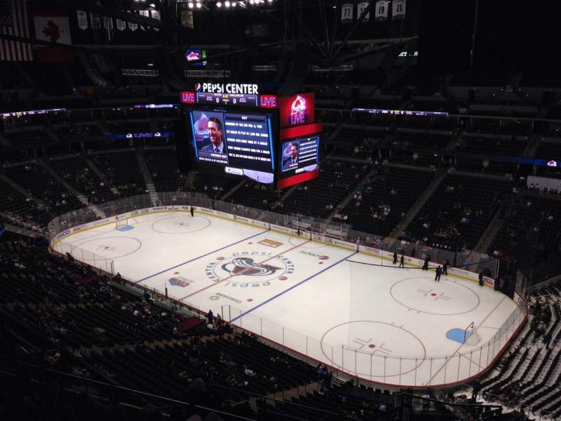 Seating view for Pepsi Center Section 374 Row 10 Seat 1
