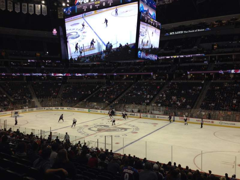 Seating view for Pepsi Center Section 144 Row 20 Seat 1