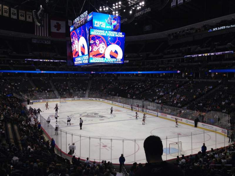 Seating view for Pepsi Center Section 140 Row 20 Seat 1