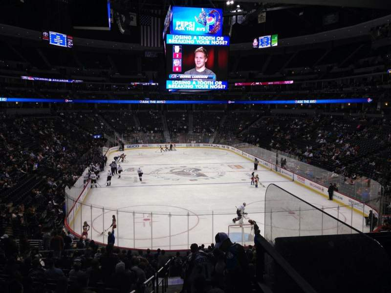 Seating view for Pepsi Center Section 138 Row 20 Seat 1