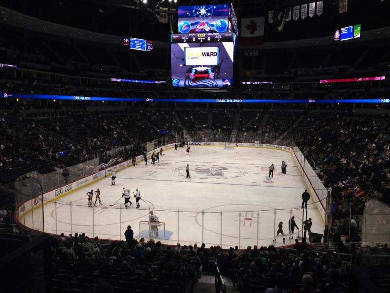 Seating view for Pepsi Center Section 134 Row 20 Seat 1