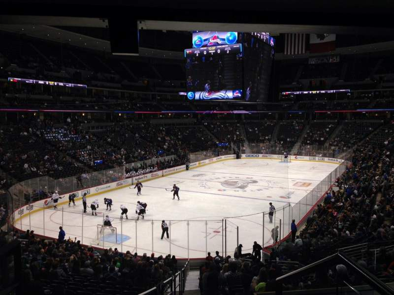 Seating view for Pepsi Center Section 132 Row 20 Seat 1