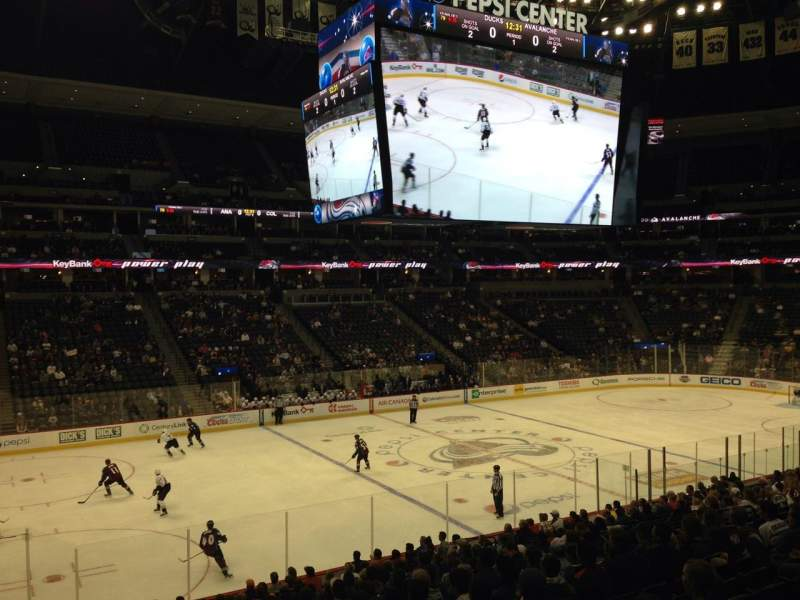 Pepsi Center, section: 128, row: 20, seat: 1