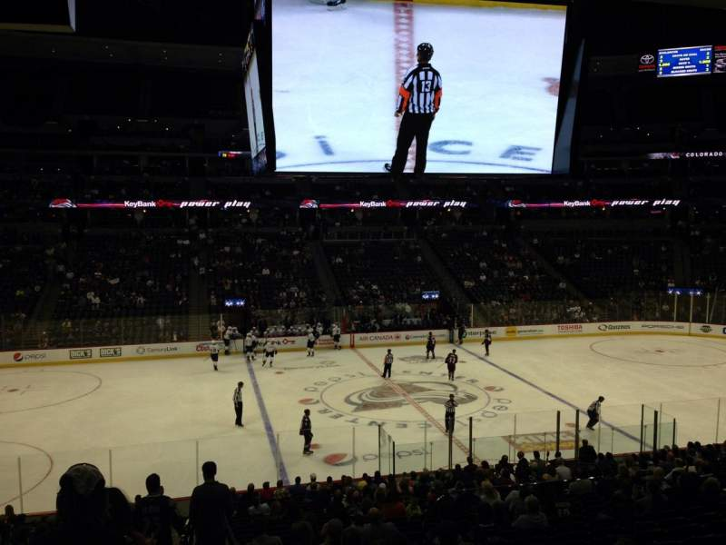 Seating view for Pepsi Center Section 126 Row 20 Seat 1
