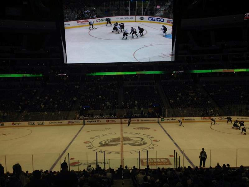 Seating view for Pepsi Center Section 124 Row 20 Seat 1