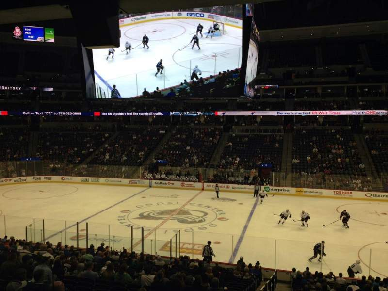 Seating view for Pepsi Center Section 122 Row 20 Seat 1