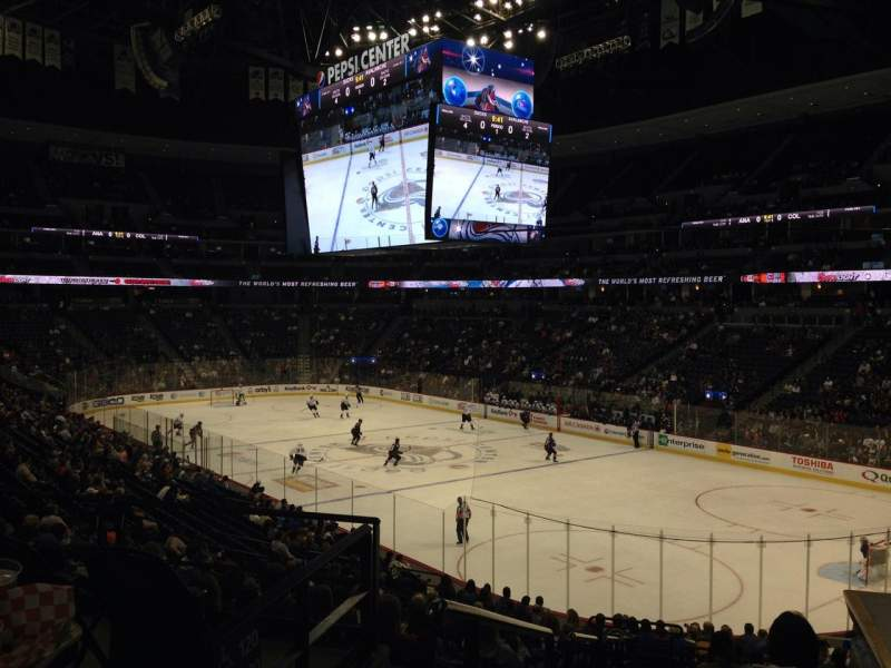 Seating view for Pepsi Center Section 118 Row 20 Seat 1