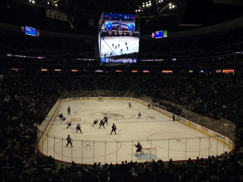 Seating view for Pepsi Center Section 114 Row 20 Seat 1