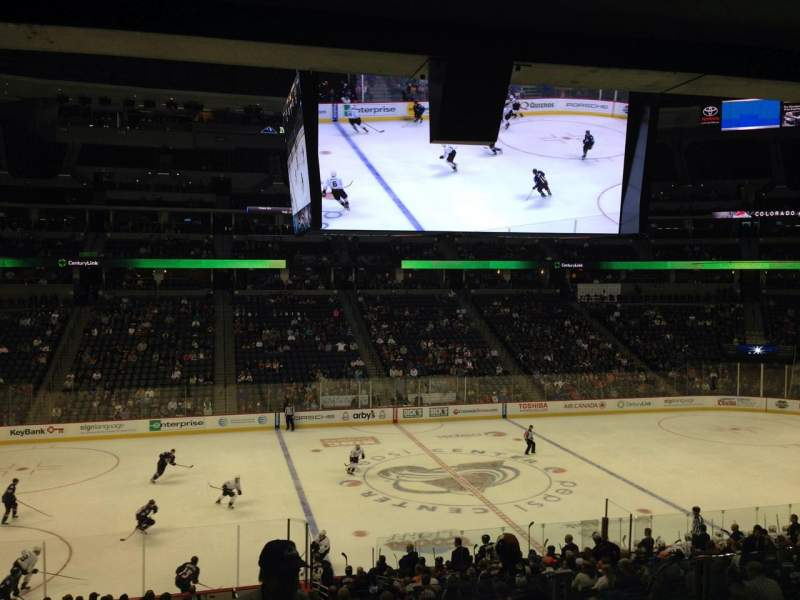 Seating view for Pepsi Center Section 102 Row 20 Seat 1