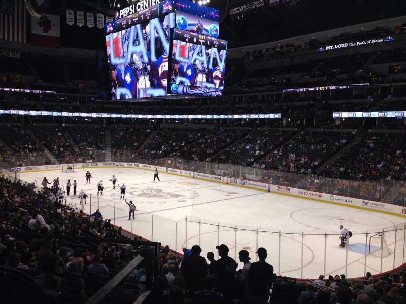 Seating view for Pepsi Center Section 142 Row 20 Seat 1