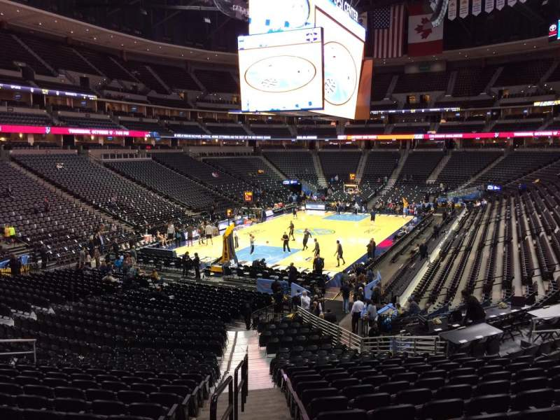 Seating view for Pepsi Center Section 132 Row 20 Seat 20