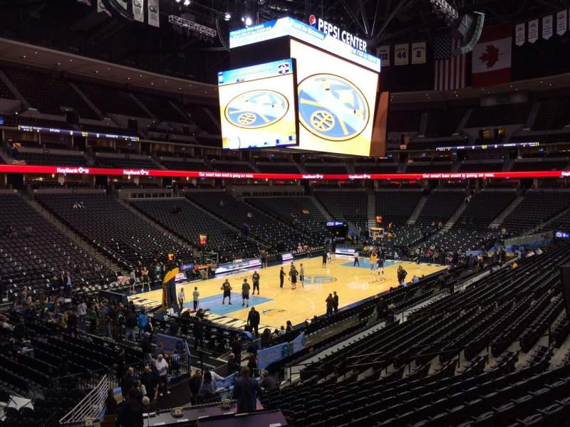 Seating view for Pepsi Center Section 130 Row 19 Seat 26