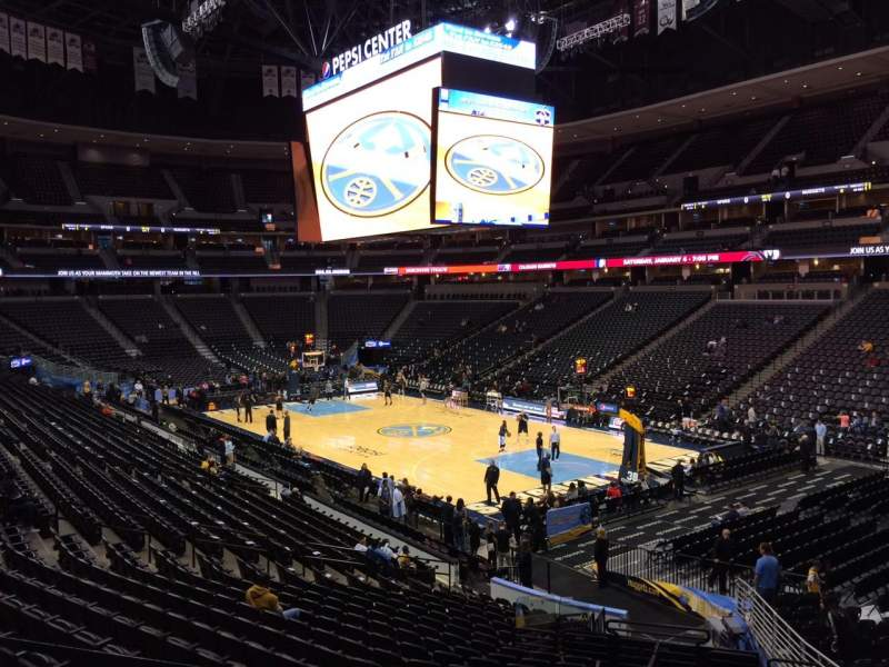 Pepsi Center, section: 118, row: 22, seat: 20