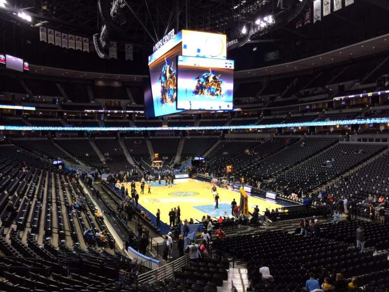 Seating view for Pepsi Center Section 116 Row 22 Seat 18