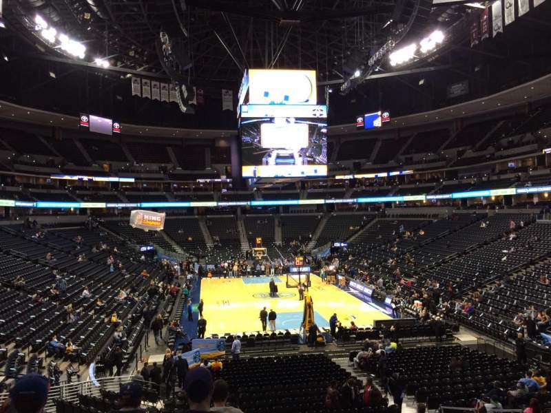 Pepsi Center, section: 114, row: 22, seat: 11