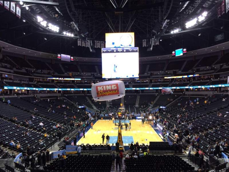 Seating view for Pepsi Center Section 112 Row 22 Seat 11