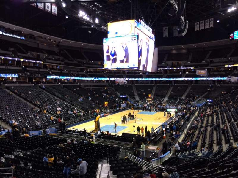 Seating view for Pepsi Center Section 108 Row 22 Seat 20