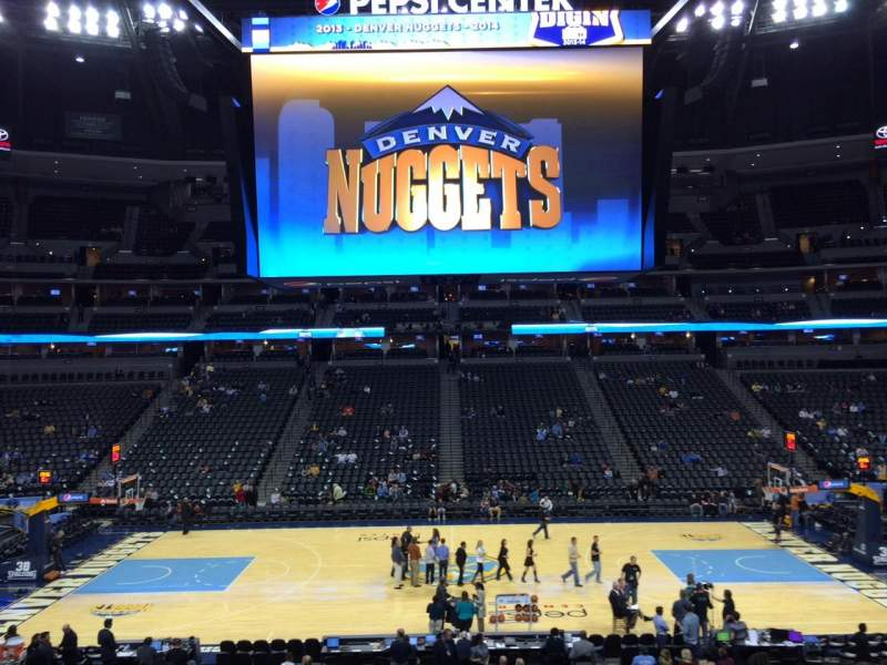 Seating view for Pepsi Center Section 148 Row 22 Seat 18