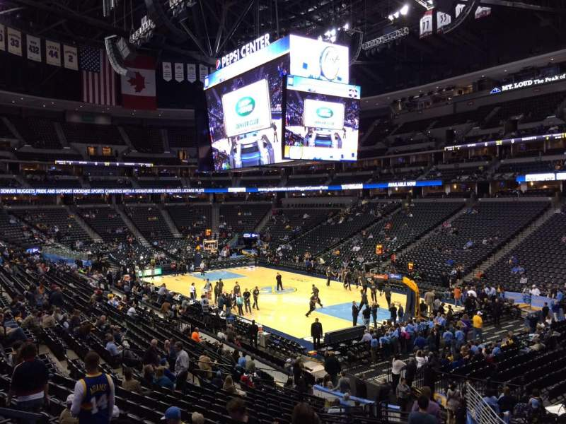 Seating view for Pepsi Center Section 142 Row 22 Seat 20