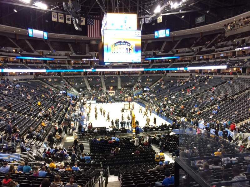 Seating view for Pepsi Center Section 138 Row 22 Seat 12